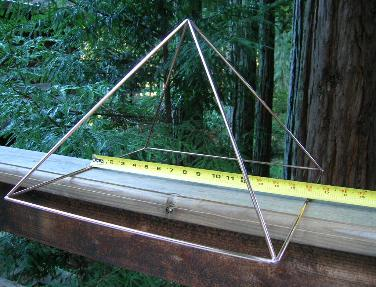 16 INCH BASE PYRAMID all copper large pyramid