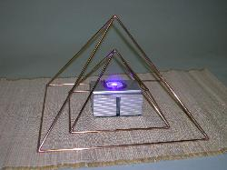 Copper Pyramid, Pyramid set, Riki, yoga, meditation, modern art, ufo, egyptian, yoga, magic, office accessories.